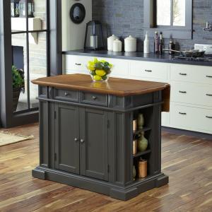 HOMESTYLES Americana Grey Kitchen Island With Drop Leaf 5013 ...