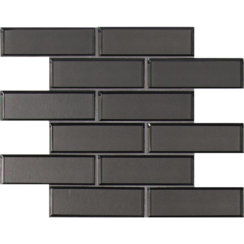Msi Metallic Gray Bevel Subway 11 73 In X 8mm Gl Mesh Mounted Mosaic Tile 9 6 Sq Ft Case