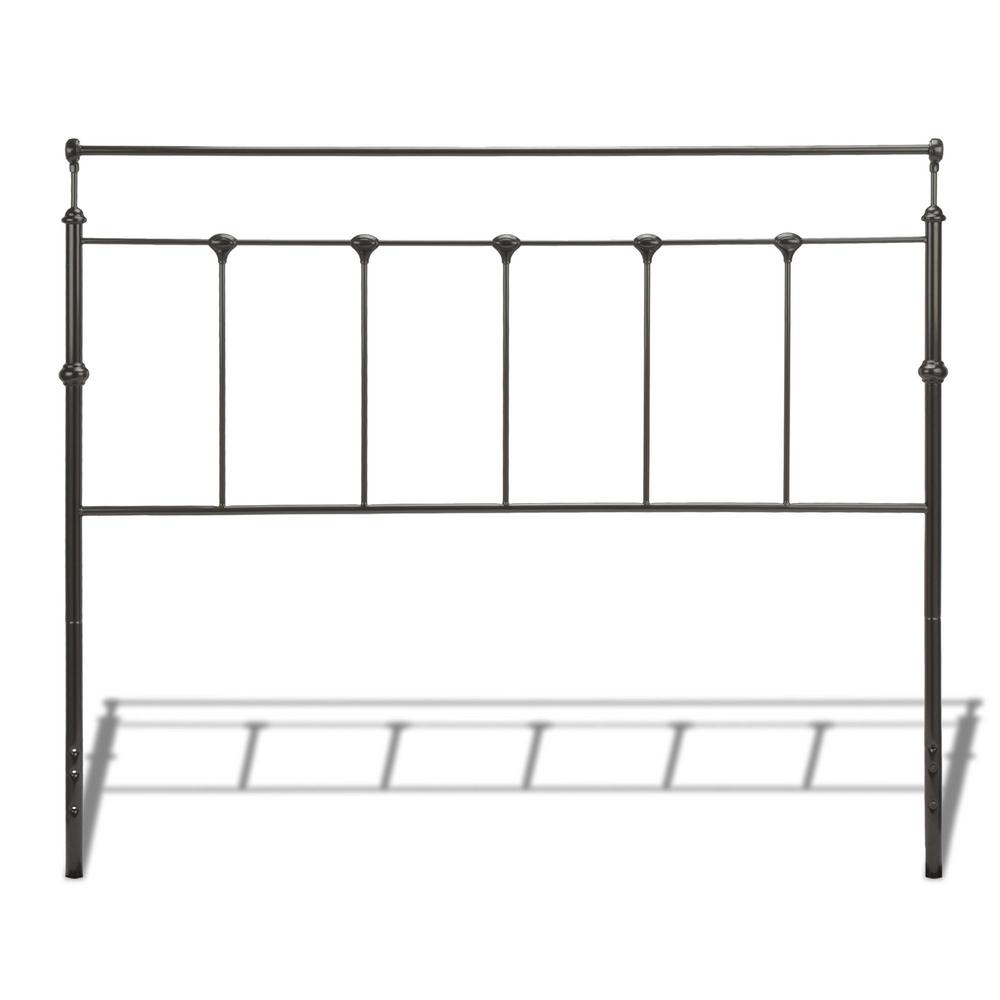Fashion Bed Group Winslow King Size Metal Headboard With Rounded Posts And Aluminum Castings In