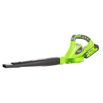 G-MAX 150 MPH 135 CFM 40-Volt Electric Leaf Blower/Sweeper - 2.0 Ah Battery and Charger Included