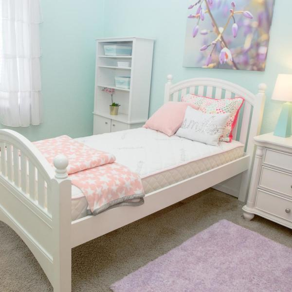 FirsTime & Co. Kids Pink 8-Organic Cotton Comfort Twin Mattress-in-a-Box