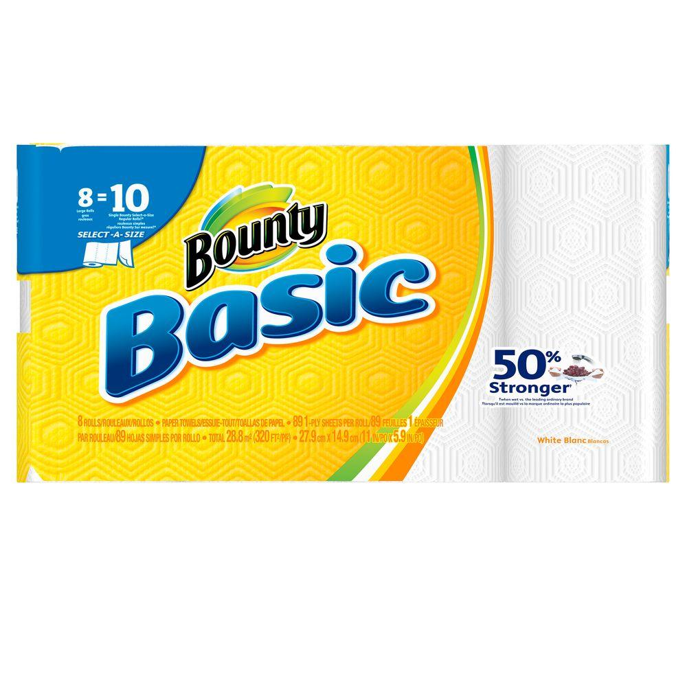 Basic Select-A-Size White Paper Towels (8 Large Rolls)