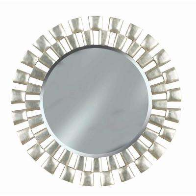 Landon 36 in. Round Polyurethane Framed Mirror