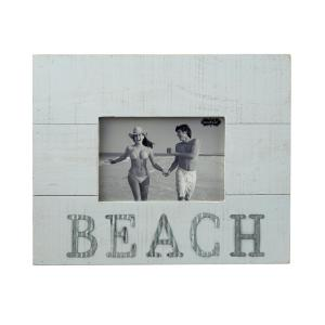 Beach 4 inch x 6 inch Distressed Planked Wood Picture Frame by