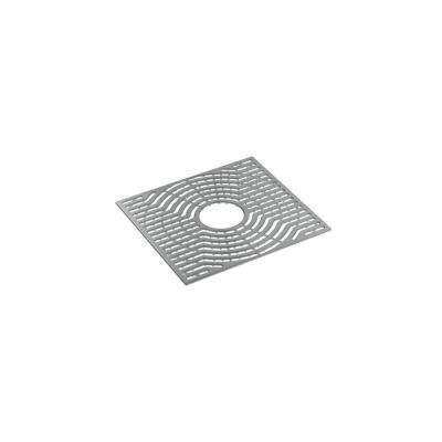 Ludington 16.3 in. Ash Grey Silicone Kitchen Sink Mat