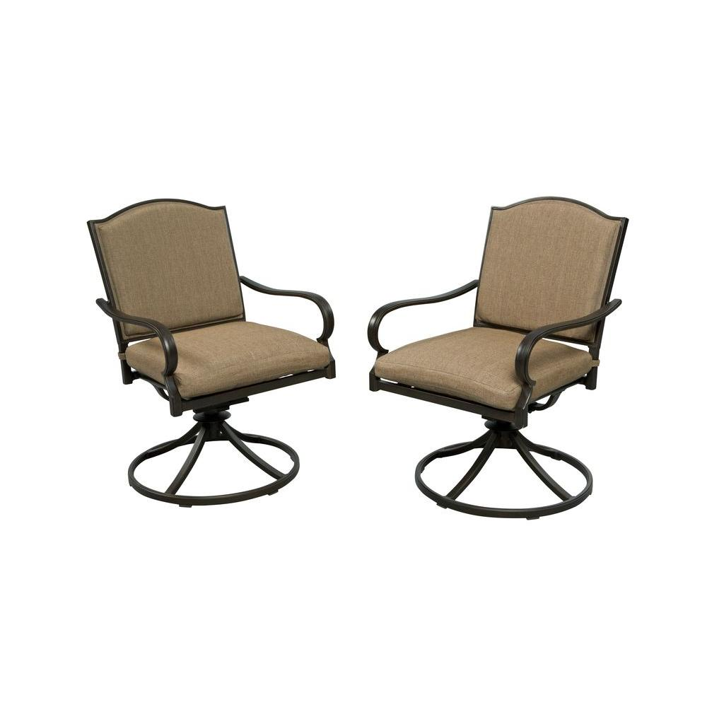 Hampton Bay Castle Rock Motion Patio Lounge Chair With