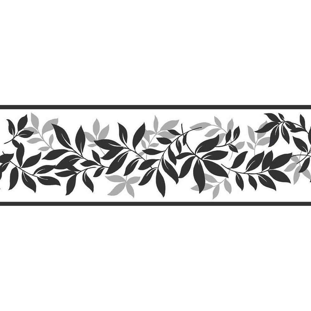 Wallpaper Border Peel Stick Decor Leaf Trail Floral