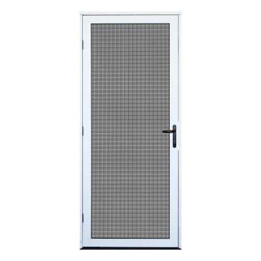 32 in. x 80 in. White Surface Mount Meshtec Ultimate Screen Door