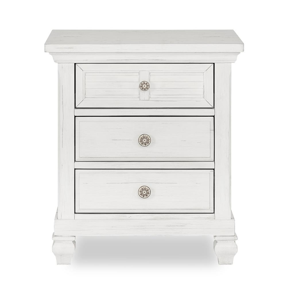 Signature Cape May 3-Drawer Weathered White Nightstand