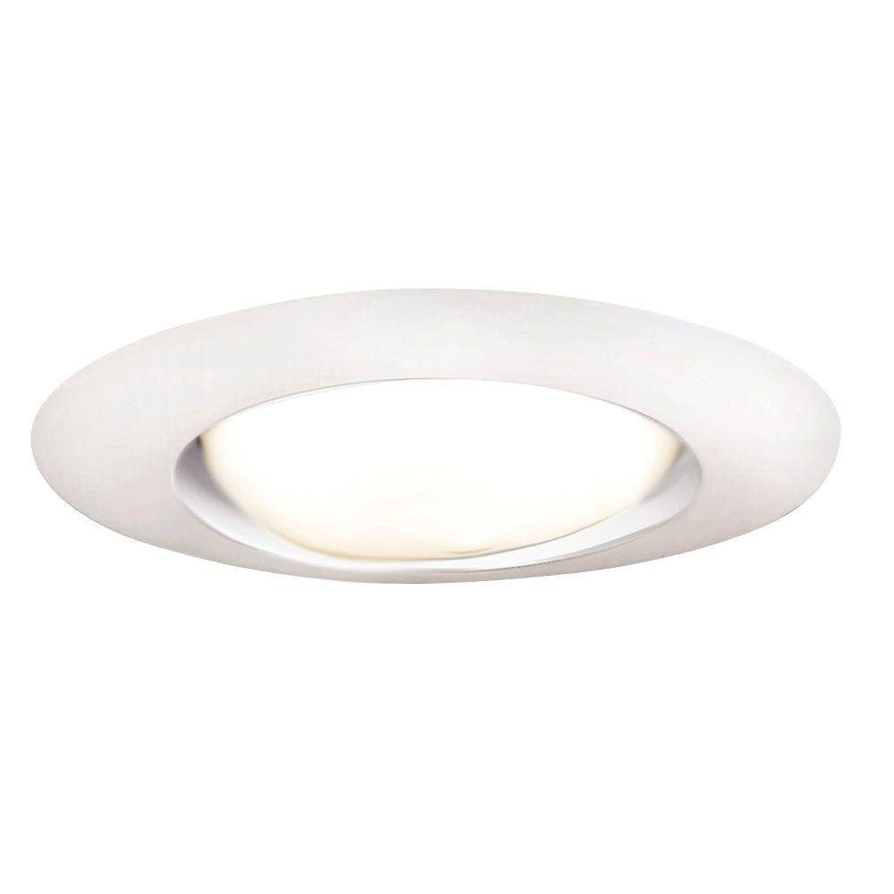 Halo 6 in white recessed ceiling light open trim 401p the home white recessed ceiling light open trim mozeypictures Choice Image