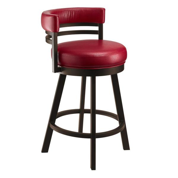 Taylor Gray Home Amora 26 in. Dillon Lipstick Swivel Barstool B521H26RED