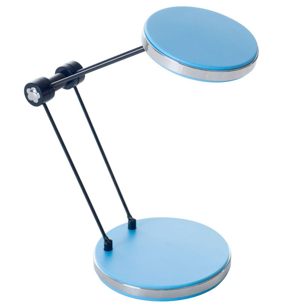 Lavish Home 12.5 in. Blue LED Foldable Desk Lamp