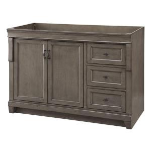 Home decorators collection naples 48 in w bath vanity cabinet only in distressed grey with for 48 inch bathroom vanity home depot