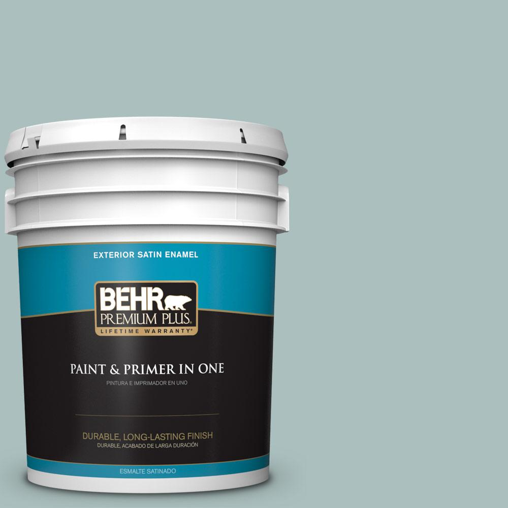 5 gal. #HDC-CL-15G Morning Parlor Satin Enamel Exterior Paint