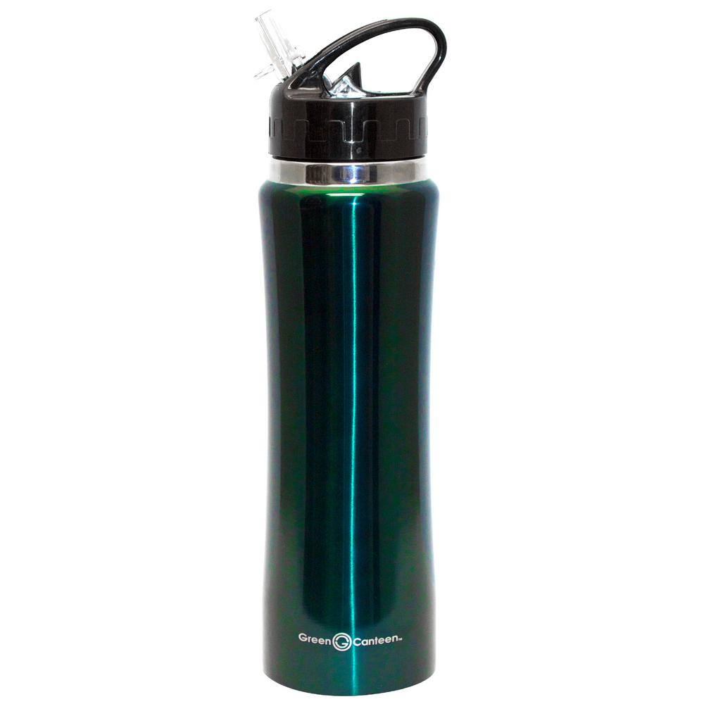 25 oz. Hunter Green Stainless Steel Double Wall Thermal Vacuum Bottle