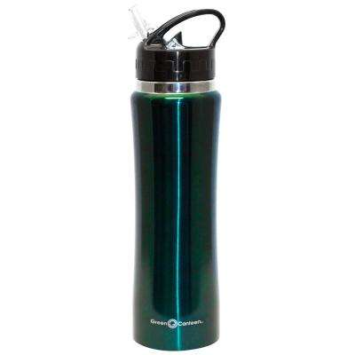 25 oz. Hunter Green Stainless Steel Double Wall Thermal Vacuum Bottle (6-Pack)