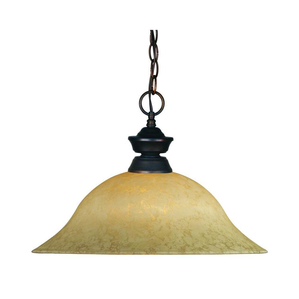 Lawrence 1-Light Olde Bronze Incandescent Ceiling Pendant