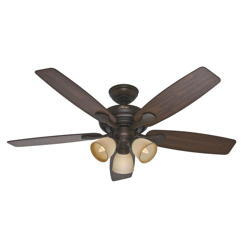 Hunter Conway 52 in. Indoor Cocoa Bronze Ceiling Fan with Light Kit