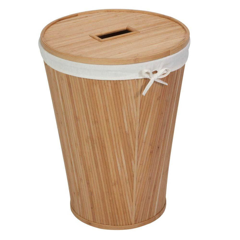 Honey-Can-Do Nested Bamboo (Green) Hamper with Lid