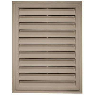 18 in. x 24 in. Rectangle Gable Vent in Clay