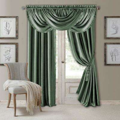 Elrene Versailles 52 in. W x 95 in. L Polyester Single Blackout Window Curtain Panel in Thyme