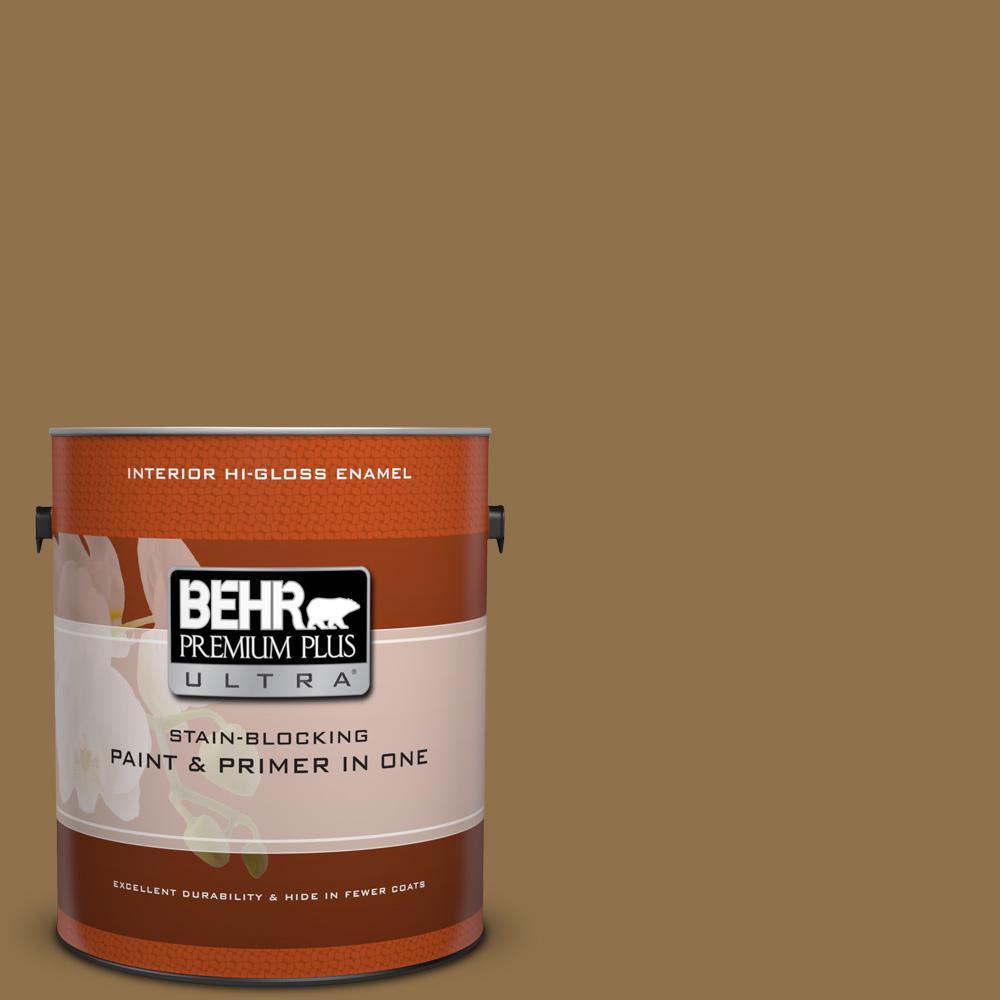 1 gal. #300F-6 Highland Ridge Hi-Gloss Enamel Interior Paint