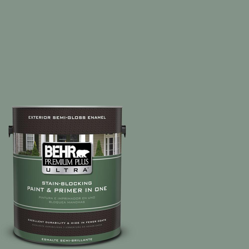 1-gal. #460F-4 Wethersfield Moss Semi-Gloss Enamel Exterior Paint