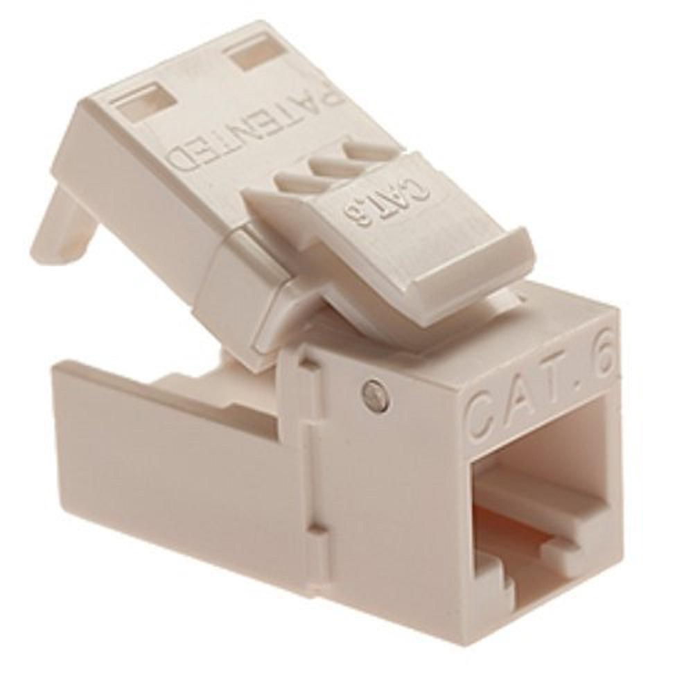 EZ-SnapJack Cat6 Connector, White (10-Piece per Bag)