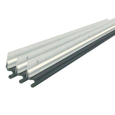 2 in. x 36 in. x 84 in. Silver Aluminum/Vinyl Top and Sides Weatherstrip Kit