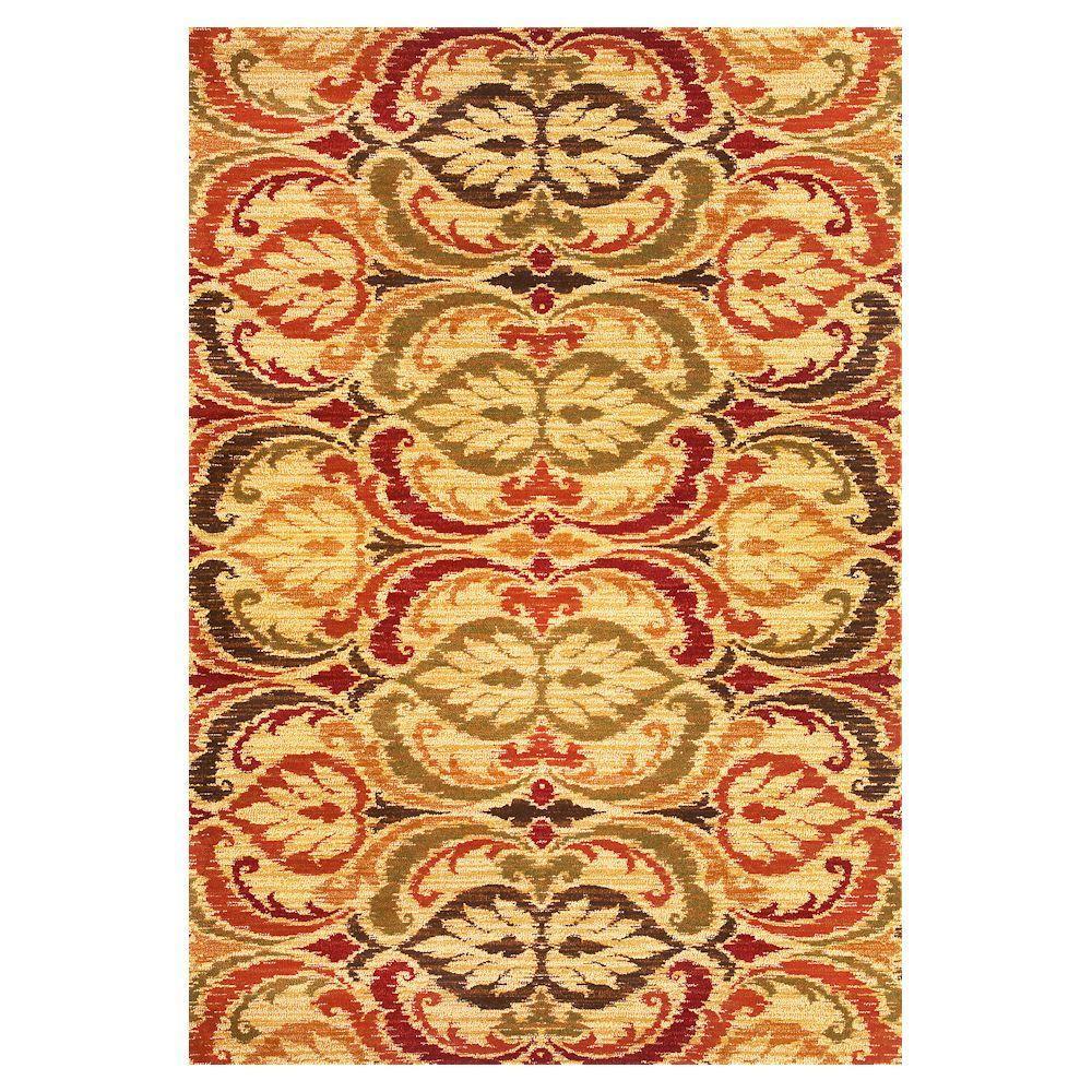 Tapestry Leaf Jewel 3 ft. x 4 ft. Area Rug