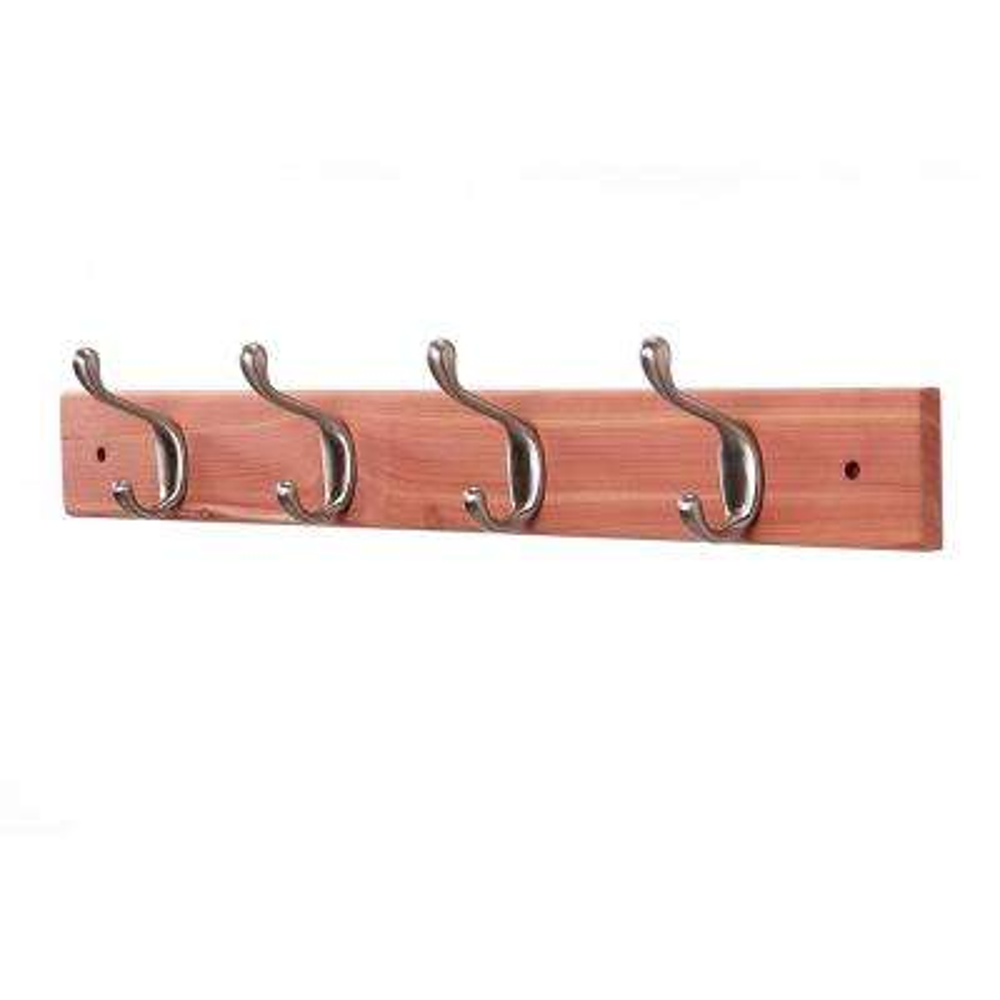 Aromatic Cedar Coat Rack (4 Double Hooks)