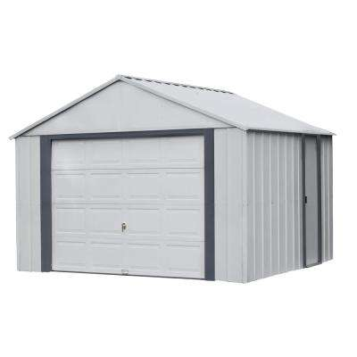 Murry hill 12 ft. W x 10 ft. D 2-Tone Gray Steel Garage and Storage Building with Side Door and High-Gable Roof