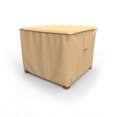 Rust-Oleum NeverWet Small Tan Outdoor Square Patio Table Cover/Ottoman Cover