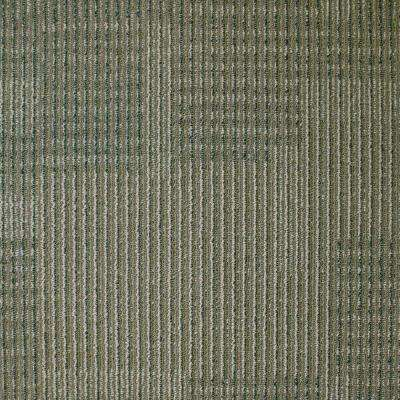 Park Avenue Khaki Loop 19.7 in. x 19.7 in. Carpet Tile (20 Piece/Case)