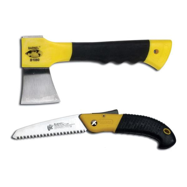 Compact Folding Saw and Hatchet Combo Pack