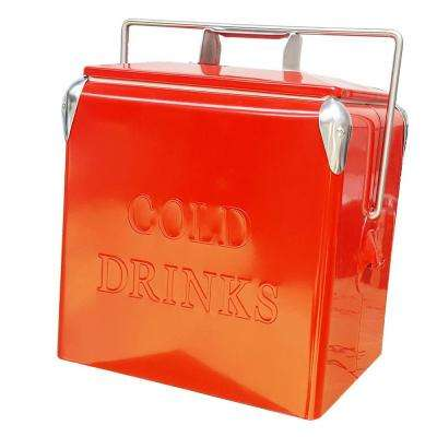 14 Qt. Portable Picnic Cooler in Red