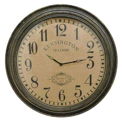Brown Wood Wall Clock