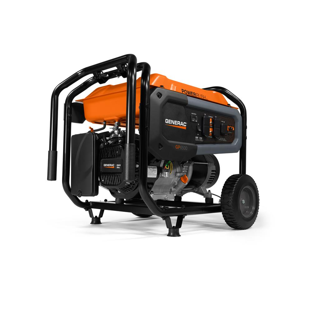 Generac GP6500- 6500-Watt Gasoline Powered Portable Generator with Cord 49/CSA