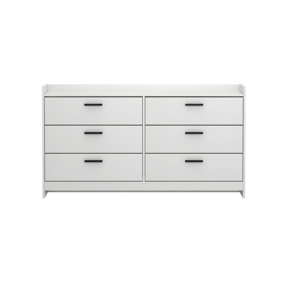 Central Park 6-Drawer Off White Dresser