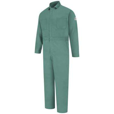 EXCEL FR Men's X-Large (Tall) Visual Green Classic Gripper-Front Coverall