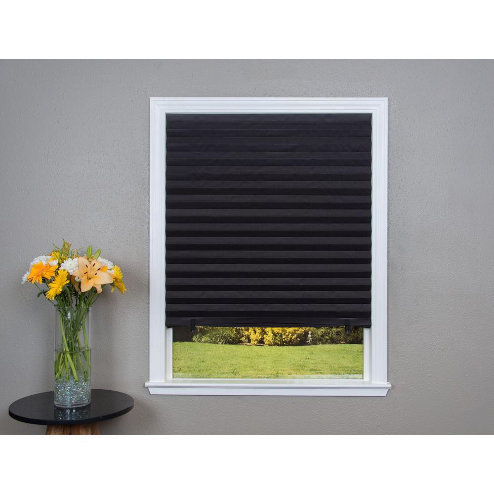 Black Paper Blackout Window Shade - 36 in. W x 72 in. L