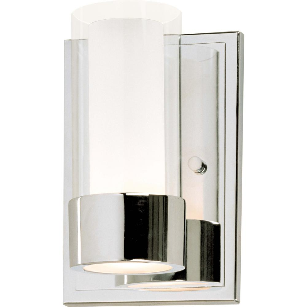 Maxim Lighting Silo 5 in. Wide Polished Chrome Sconce