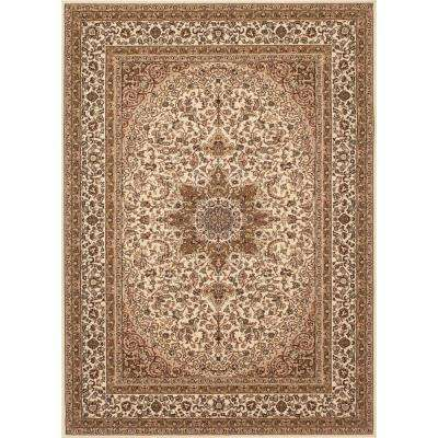 Manor House Cream Ardebil 7 ft. 10 in. x 10 ft. 2 in. Area Rug