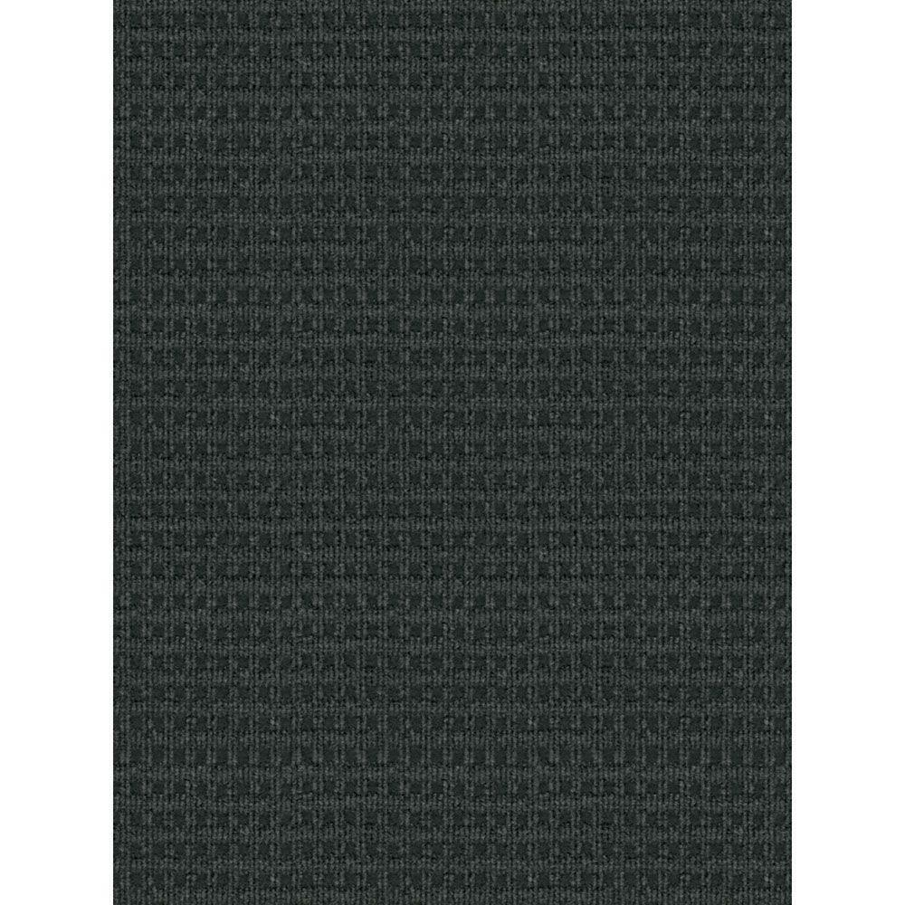 Foss Checkmate Charcoal Black 6 Ft X 8 Ft Indoor Outdoor Area Rug