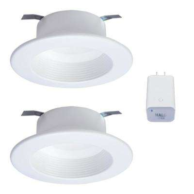 4in. Tunable CCT Smart Integrated LED Recessed Retrofit Trim (2-Pack) and Bluetooth Internet Access Bridge by HALO Home