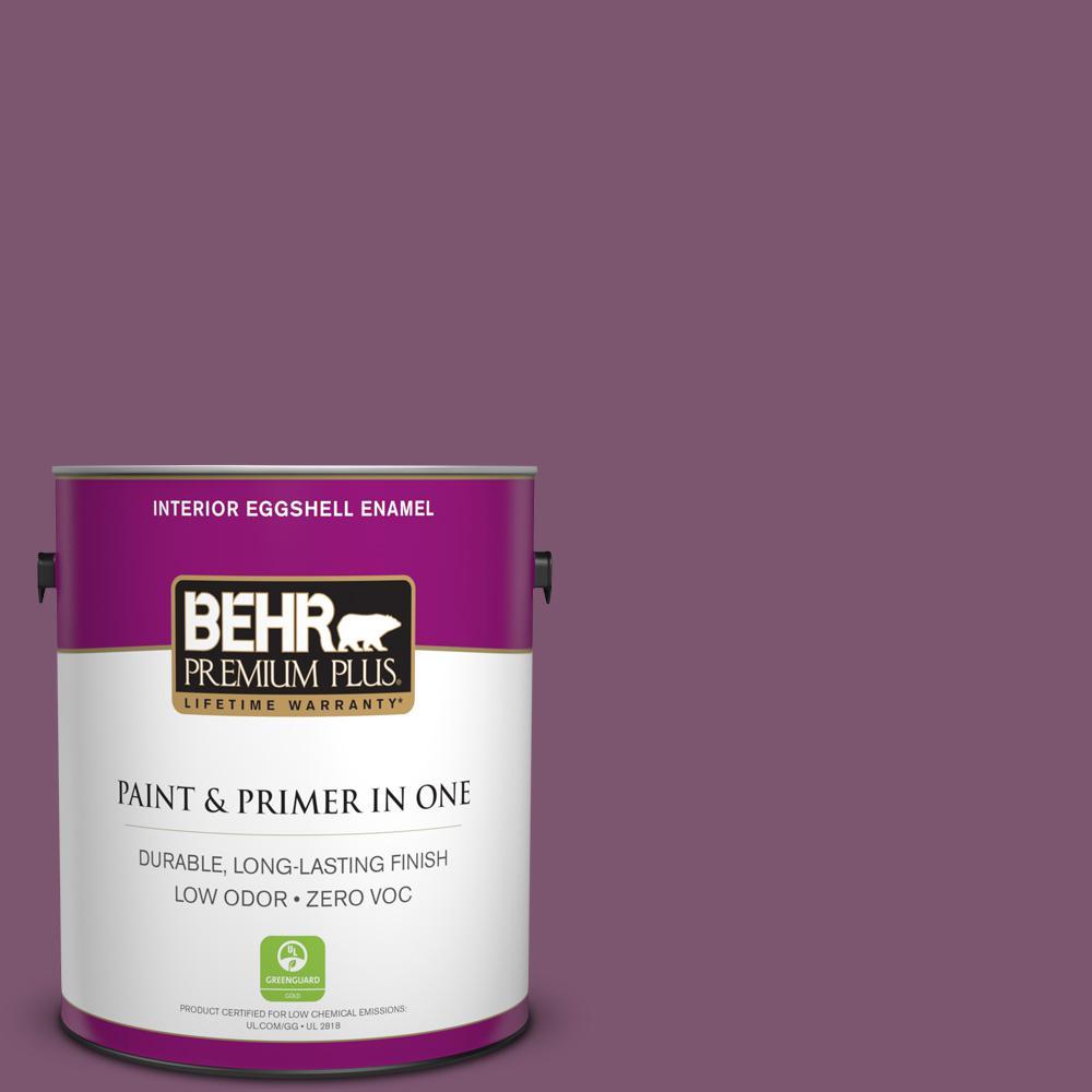 BEHR Premium Plus 1-gal. #M110-7 Euphoric Magenta Eggshell Enamel Interior Paint