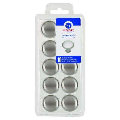 Project Pack 1-1/8 in. Metropolis Satin Nickel Cabinet Knob (10-Pack)