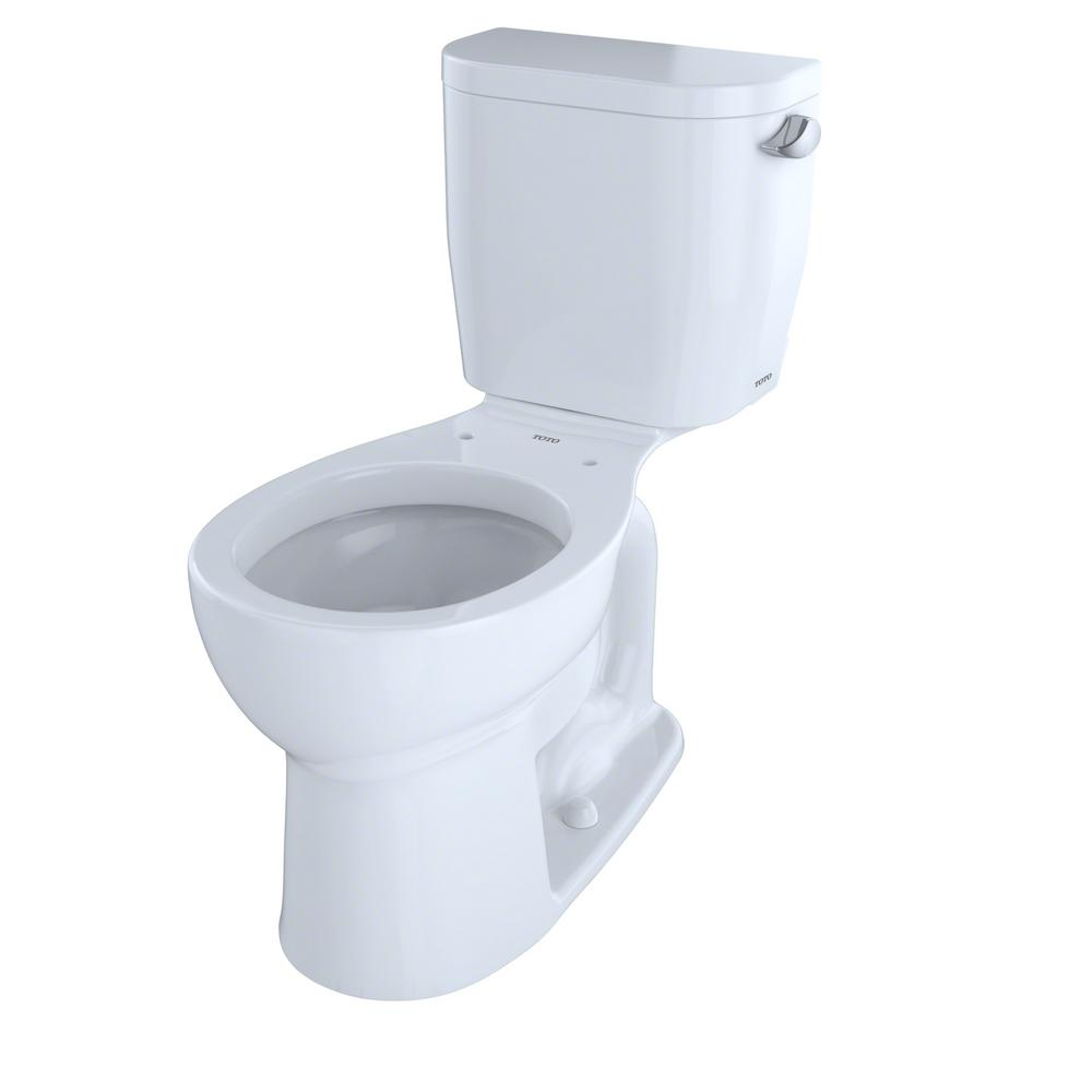 Entrada 2-Piece 1.28 GPF Single Flush Round Toilet with Right Hand