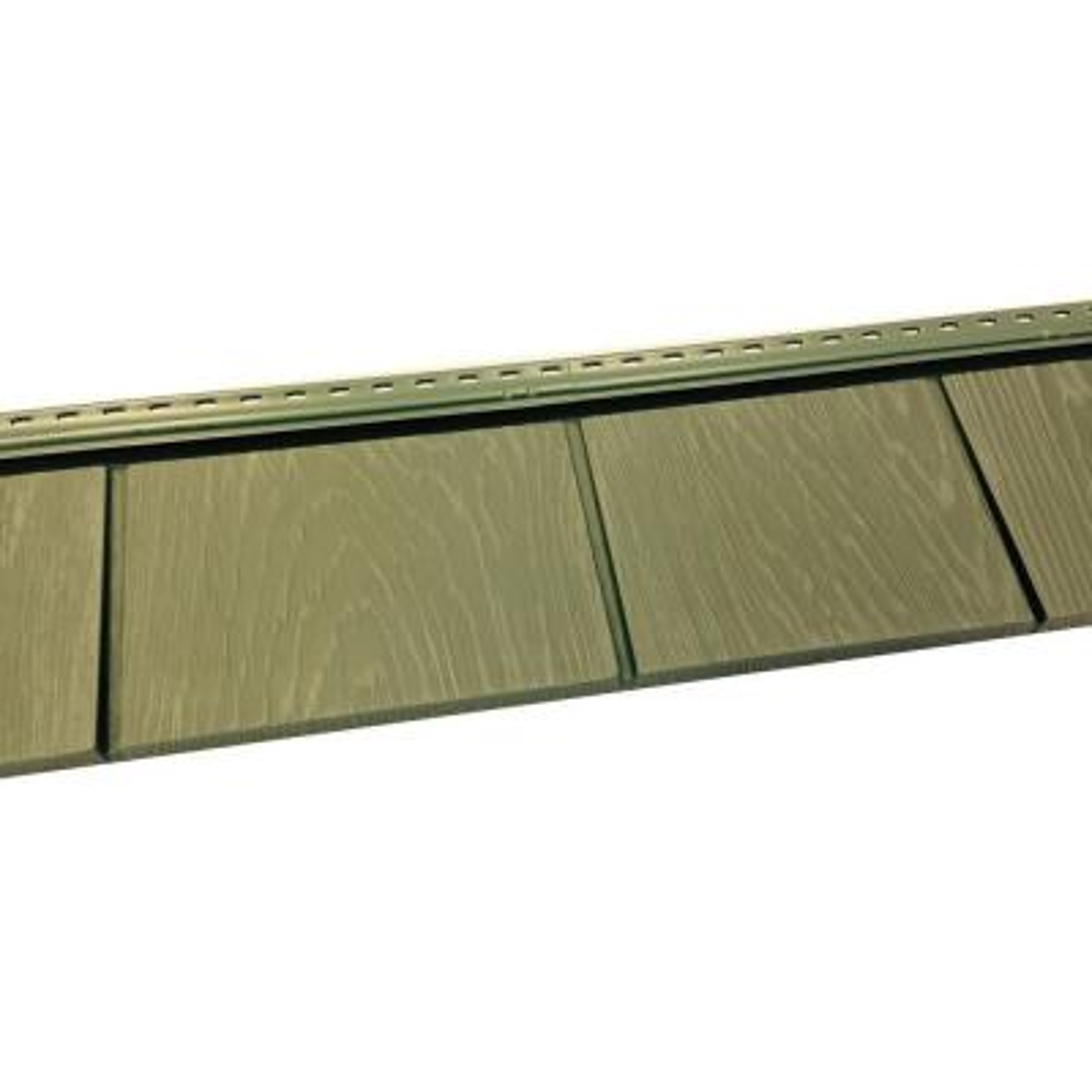 6-1/2 in. x 60-1/2 in. Ridge Moss Engineered Rigid PVC Shingle Panel 5 in. Exposure (24 per Box)