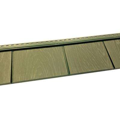 6-1/2 in. x 60-1/2 in. Ridge Moss Engineered Rigid PVC Shingle Panel 5 in. Exposure (24 per Box)